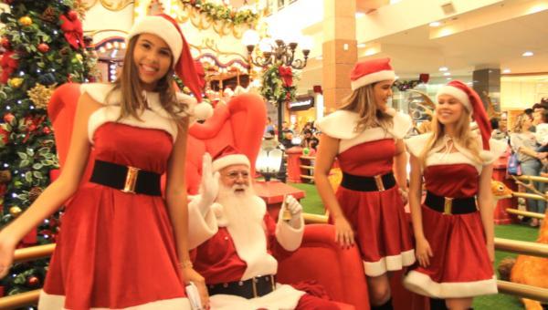 Papai Noel já chegou ao ItaúPower Shopping