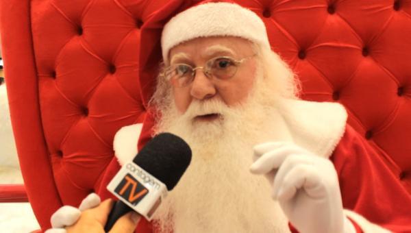 Papai Noel chegou ao ItaúPower Shopping e deu o recado