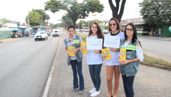 """Campanha """"Maio Amarelo"""" ganha as ruas de Contagem"""