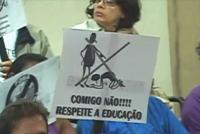 Protesto na Câmara Municipal de Contagem