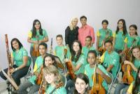 Dadá Maravilha visita a Orquestra Jovem de Contagem