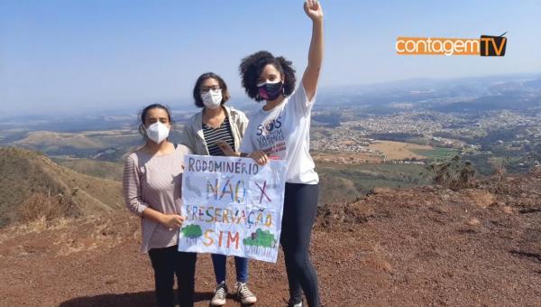 Protesto na Serra do Rola Moça contra a construção do Rodoanel