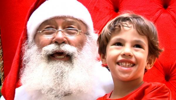 Papai Noel fica no seu trono no Big Shopping até o Natal