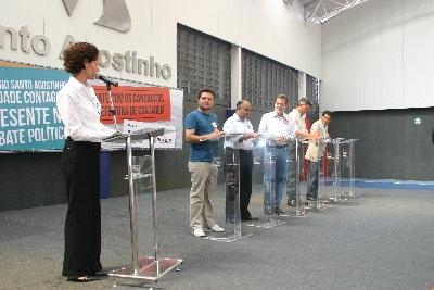 Colégio Santo Agostinho realiza debate com os candidatos a prefeito de Contagem