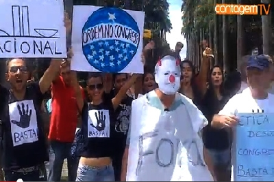 Protesto contra o senador Renan Calheiros em BH
