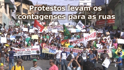 Protestos levam os contagenses para as ruas