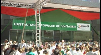 INAUGURAÇÃO DO PRIMEIRO RESTAURANTE POPULAR DE CONTAGEM
